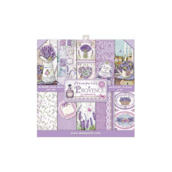 """Stamperia Paper pad -  Provence - 8"""" x 8"""""""
