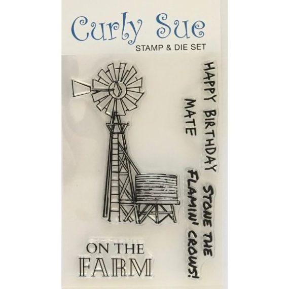 Aussie Windmills Stamp & Die set