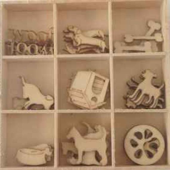 Wooden Embellishments - Dogs