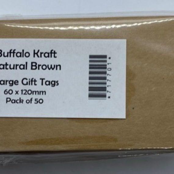 Gift Tags - Buffalo Kraft - Large