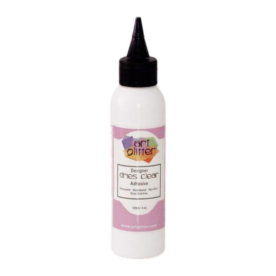 Art Institute Glitter Designer Dries Clear Adhesive 4oz - 120ml