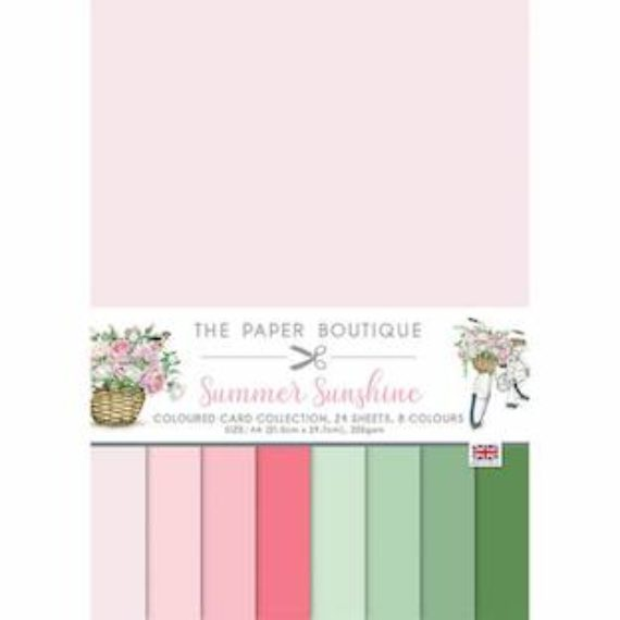 The Paper Boutique A4 Card Collection - Summer Sunshine