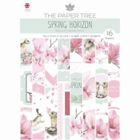 The Paper Tree A4 Die Cut sheets - Spring Horizon