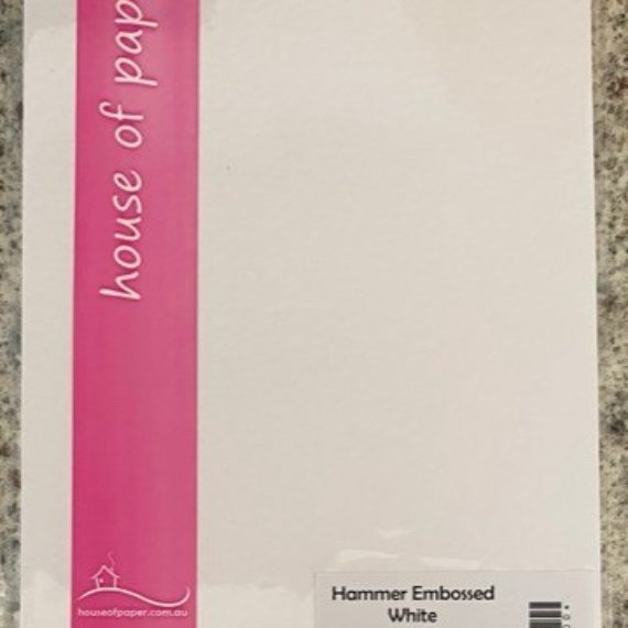 Hammer Embossed White - A5 Card