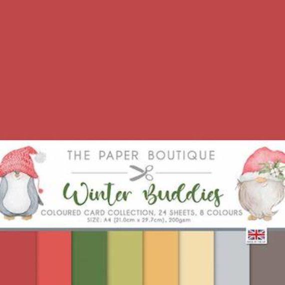 Winter Buddies The Paper Boutique A4 Colour Card Collection