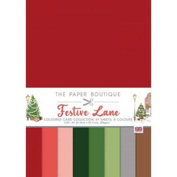 Festive Lane The Paper Boutique Colour A4 Card Collection