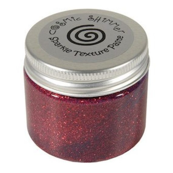 Cosmic Shimmer Sparkle Texture Paste Berry Red 50ml